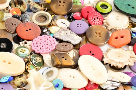 Collection of Vintage, Antique, and Artist Created Buttons