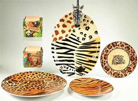 Safari Serving Pieces