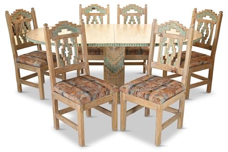 Santa Fe Carved Dining Set