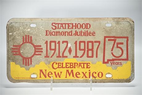 New Mexico Diamond Jubilee License Plate
