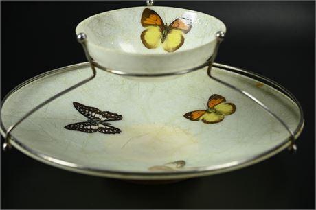 Fiberglass Artline Chip and Dip Snack Bowl