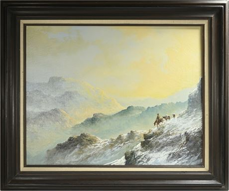 """Lester Hughes """"Chilly Morning"""" Original Oil On Canvas"""