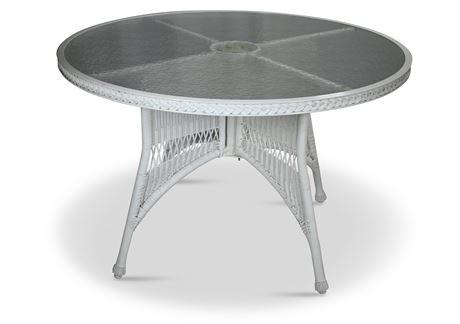 Faux Wicker Table