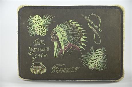 """Custom Upholstered """"Spirit of the Forest"""" Foot Stool"""