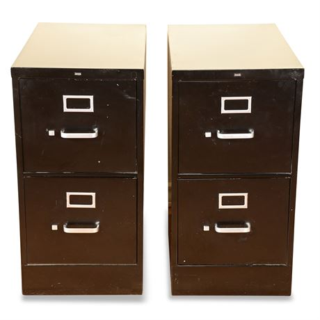 Pair of HON Two Drawer File Cabinets