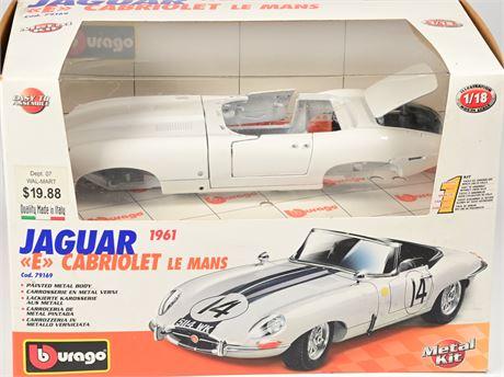 Bburago 1961 Jaguar E Cabriolet Le Mans Kit