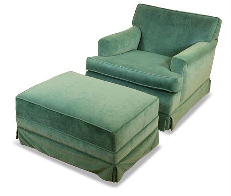 Henredon Lounge Chair with Ottoman