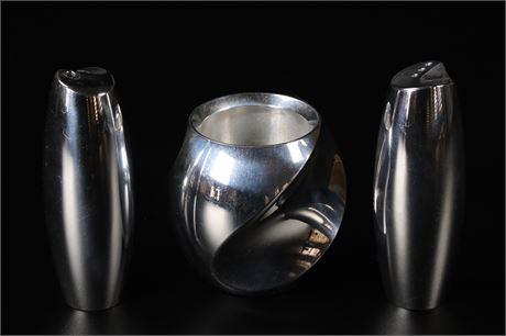 Nambé Salt, Pepper, and Votive