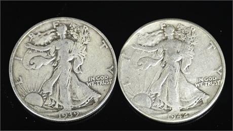 Standing Liberty Half Dollars