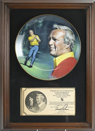 """""""Golfing Greats""""Arnold Palmer Framed Collectible Plate"""