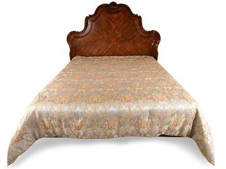 Elegant Carved King Bed