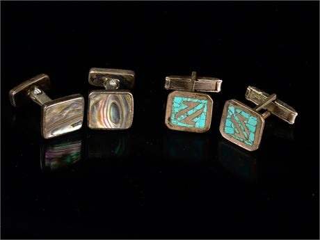Mid-Century Taxco Sterling Cuff Links