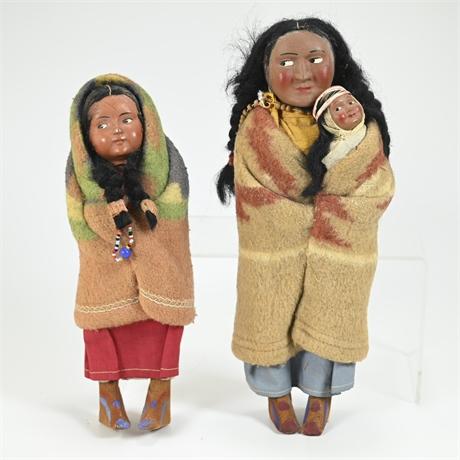 Antique Skookum Bully Good Dolls