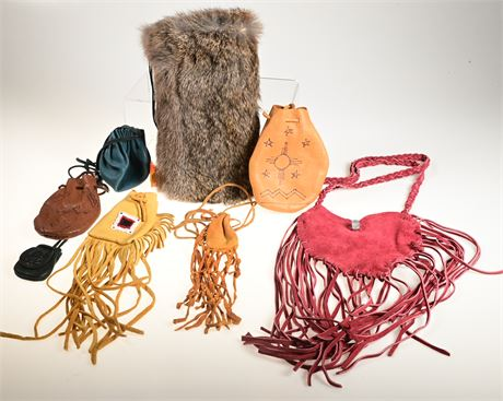 Collection of Vintage Leather Pouches