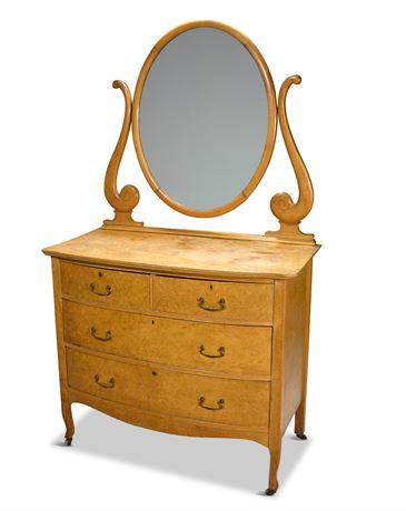 Late Victorian Birdseye Maple Dresser