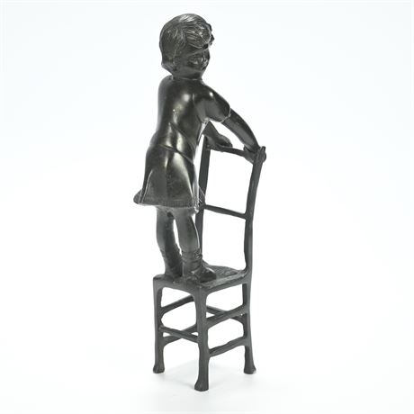 Maitland Smith Bronze Girl Statue