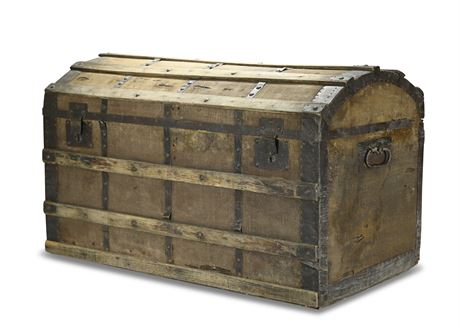 Antique Dometop Steamer Trunk