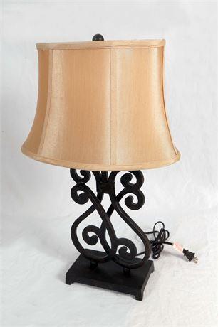 Iron Lamp with Ivory Shade