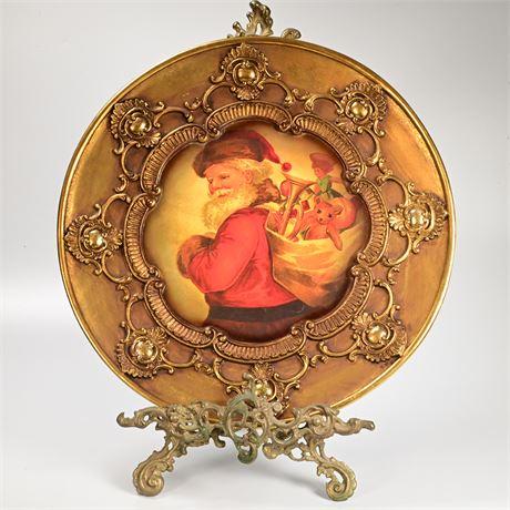 Decorative Santa Charger