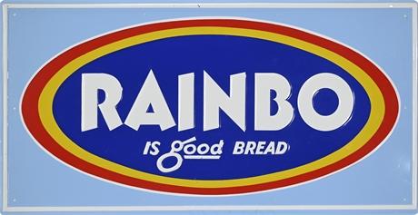 Vintage Rainbo Bread Enamel Sign