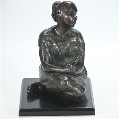 Bronze Look Resin Sculpture