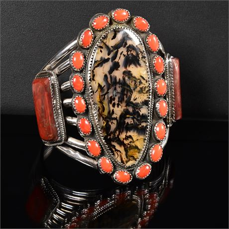 Vintage Navajo Cluster Bracelet
