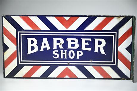 Antique Porcelain Barber Shop Sign