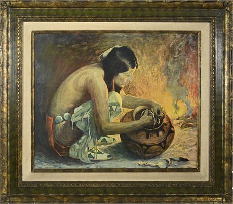 Eanger Irving Couse Print on Canvas