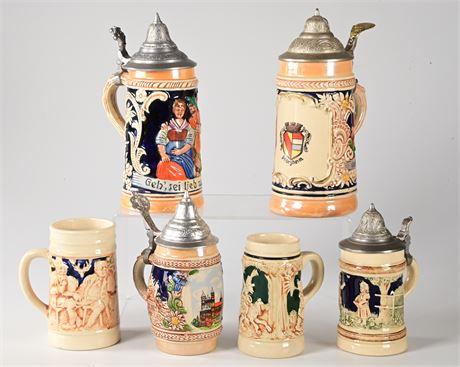 German Beer Stein Collection
