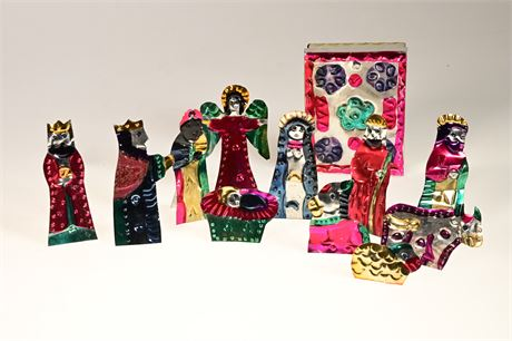 Punched Tin Nativity