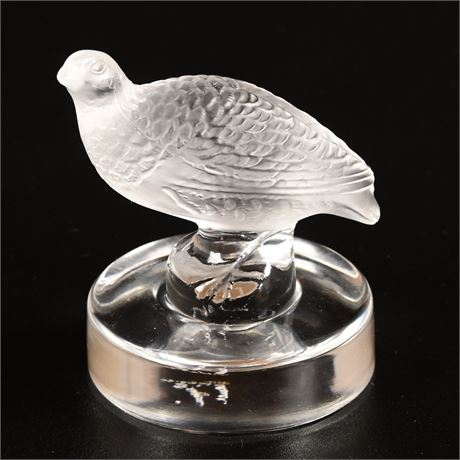 Lalique Crystal Grouse Figure