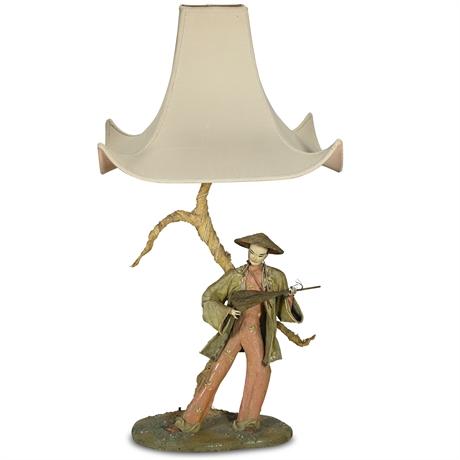1940's Kathi Urbach Asian Sculpture Lamps