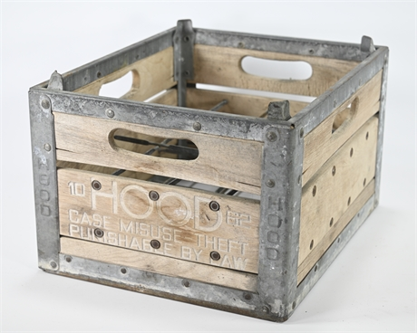 Antique Hood Wood Milk Crate