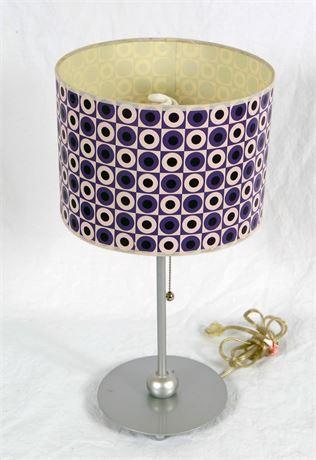 Modern Purple Design Shaded Lamp