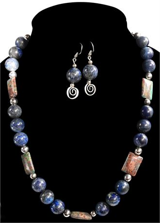Lapis Necklace and Earring Set