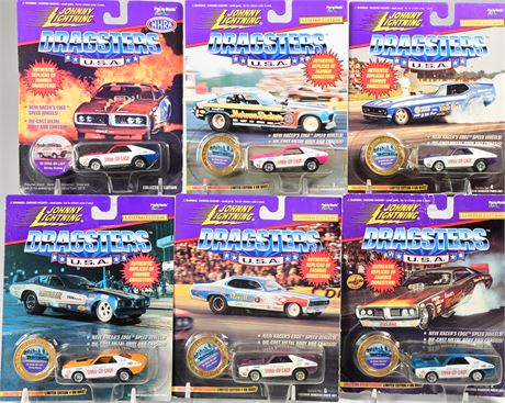 (6) Johnny Lightning Dragsters
