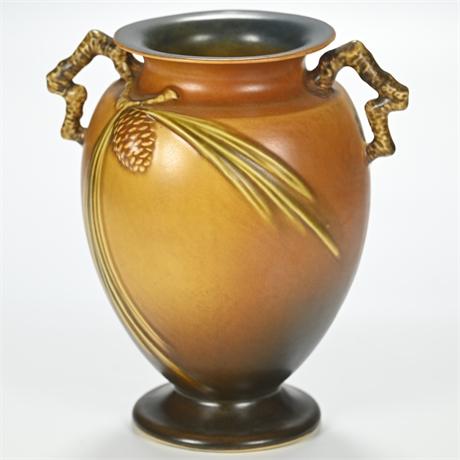 Roseville Brown Pinecone Vase