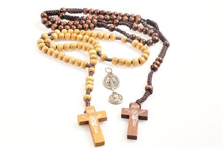 Wood Rosaries Plus Pendants