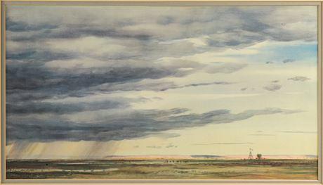"Peter Hurd ""A Shower in the Prairie"" Print"