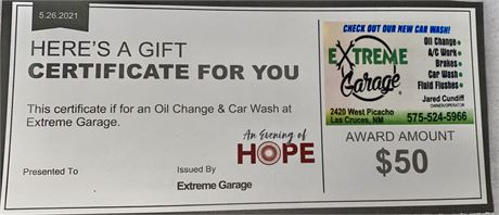 Extreme Garage Oil Change and Car Wash