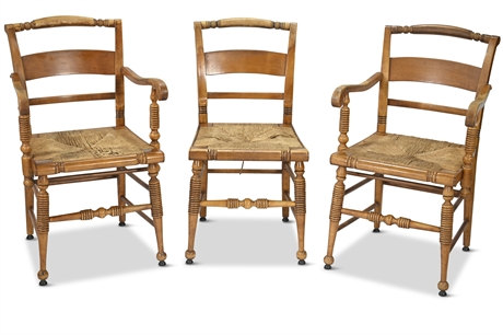 Vintage Maple Accent Chairs