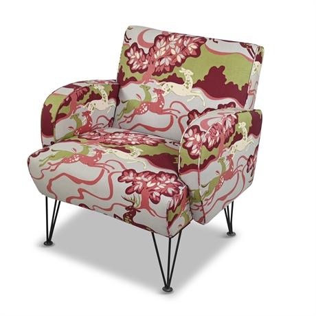 Mid-Century Custom Upholstered Armchair