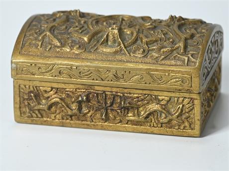 Antique Brass Dragon Box