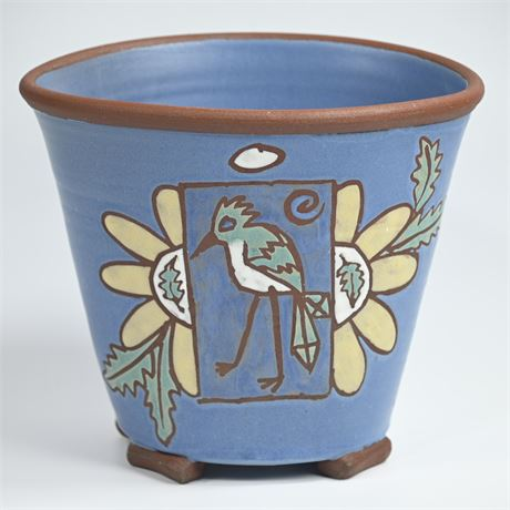 Front Ave Pottery Roadrunner Pot