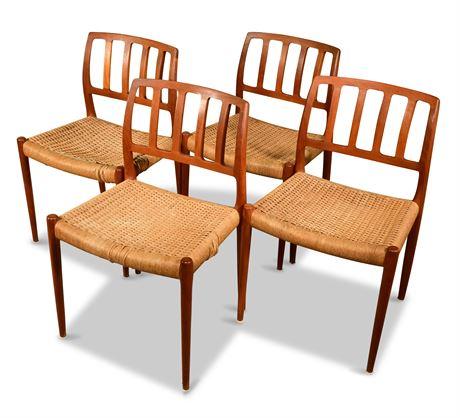 Danish Teak Niels Møller Dining Chairs