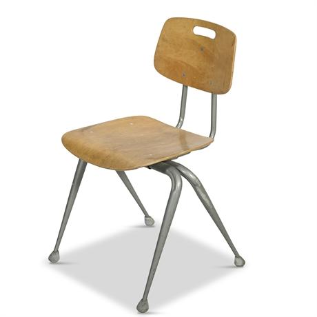 Vintage Brunswick Wood and Metal School Chair