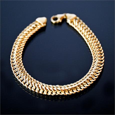 Vintage 18k Italian Gold Bracelet