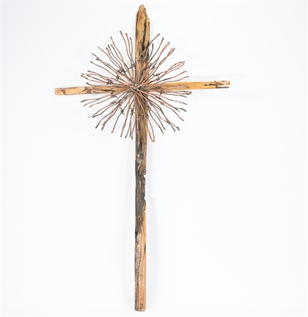 Mesquite and Barbwire Cross