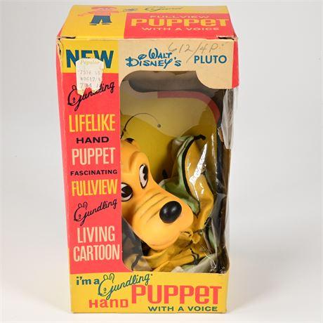 1960's Gund Pluto Hand Puppet in Original Box