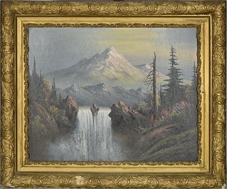 Antique Landscape on Masonite